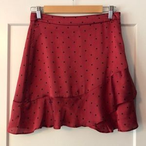 COTTON CANDY LA red/black polka dot ruffle skirt